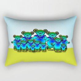 Boomer Bear Family 2 Rectangular Pillow