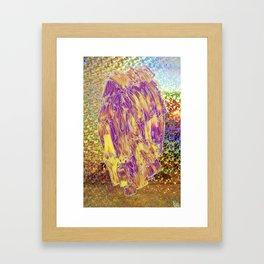 Holographic Space Fruit  Framed Art Print