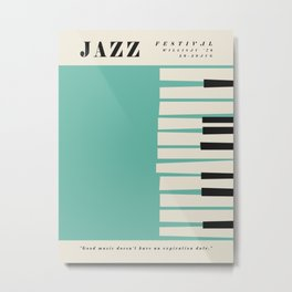 Vintage poster-Jazz festival-Willisau 76 year. Metal Print