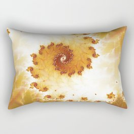 Autumnal spiral fractal Rectangular Pillow