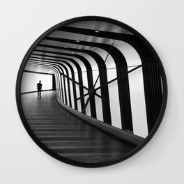Futuristic Underground Wall Clock