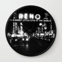 black city Wall Clock