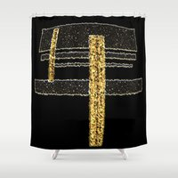 metal Shower Curtains featuring Metal by Maria Julia Bastias