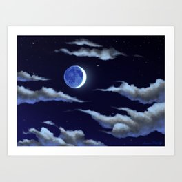 Blue Moon Art Print