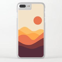 Geometric Landscape 21 Clear iPhone Case