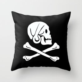 Henry Every Pirate Flag - Jolly Roger Skull Throw Pillow