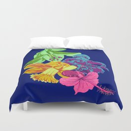 Octopus Flower Garden Duvet Cover