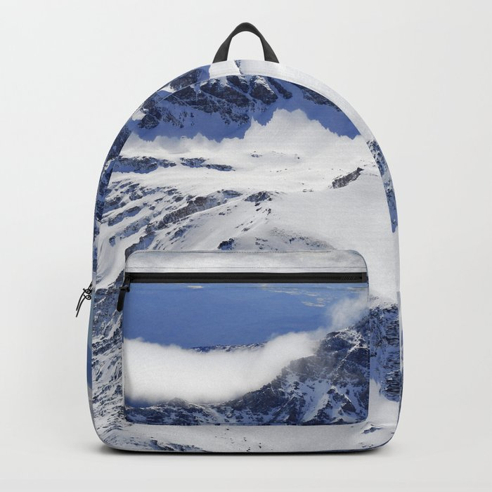 """""""Big mountains"""". Aerial photography Backpack"""