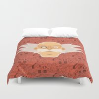 megaman Duvet Covers featuring Dr Willy - Megaman by Kuki
