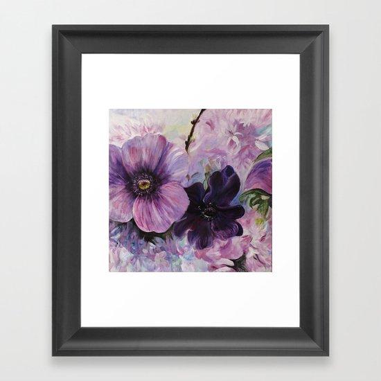 Bleu de printemps Framed Art Print