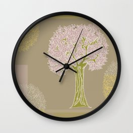 Tree of Life Colorblock Wall Clock