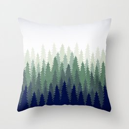 PineGradient 2 Throw Pillow