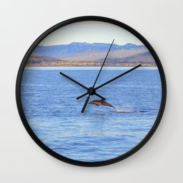 Porpoise in Pursuit Wall Clock
