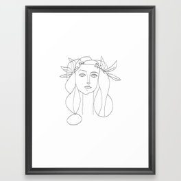 Picasso Line Art - Woman's Head Framed Art Print