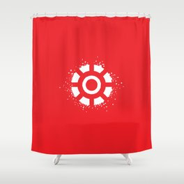 Square Heroes - man of iron Shower Curtain