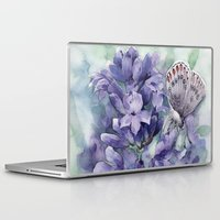 lavender Laptop & iPad Skins featuring Lavender by A cup of grey tea
