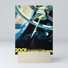 2001 A Space Odyssey 1968 American Lobby Broadside Vintage Film Poster Mini Art Print
