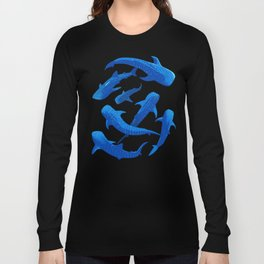 Pattern Shark Whale Long Sleeve T-shirt