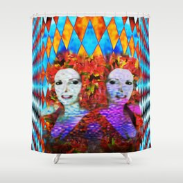 """""""Just One More Girl and a Flame Tree"""" by surrealpete Shower Curtain"""