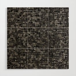 space mosaic Wood Wall Art