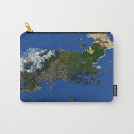 Voxel City Render - Incredibly Detailed Metropolis Carry-All Pouch