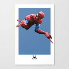 Spider-Man Polygon Mesh Canvas Print