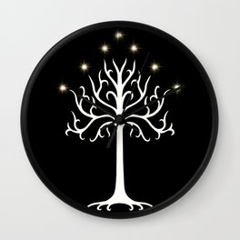 The White Tree of G Wall Clock