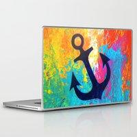 anchor Laptop & iPad Skins featuring Anchor by Sophia Buddenhagen