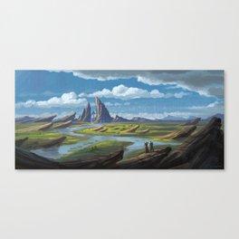 Sweeping Rock Canvas Print