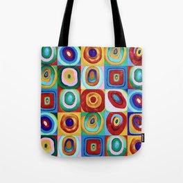 Colorful circles tile Tote Bag