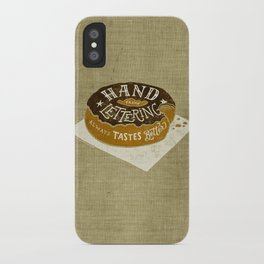 hand drawn lettering always tastes better iPhone Case
