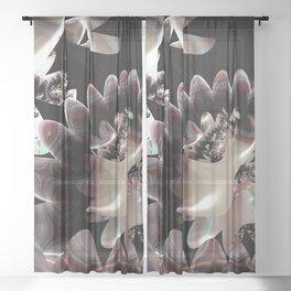 Watermelon Crystal Fractal Sheer Curtain