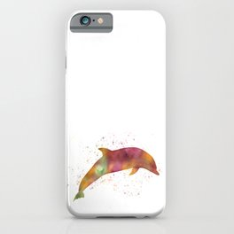 Dolphin in watercolor iPhone Case