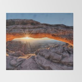 Mesa Arch Sunburst  by Lena Owens Throw Blanket