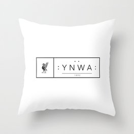 Liverpool minimal logo Black Throw Pillow