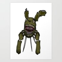 fnaf Art Prints featuring Spring Trap FNaF - Print by insomniac zach