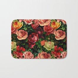 Vintage & Shabby chic - floral roses flowers rose Bath Mat