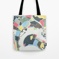 san diego Tote Bags featuring San Diego by Studio Tesouro