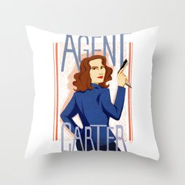 Agent Carter Throw Pillow