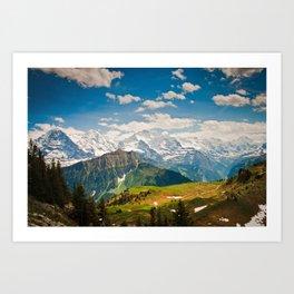 berner oberland, switzerland Art Print