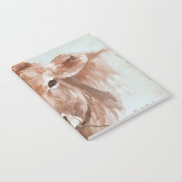 Cow with Rose by Debi Coules Notebook