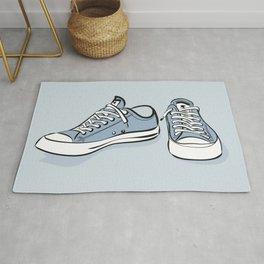 Grey Sneakers Rug