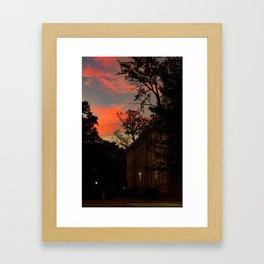 Old East at Sunset Framed Art Print