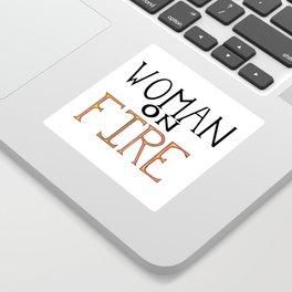 Woman On FIRE Sticker