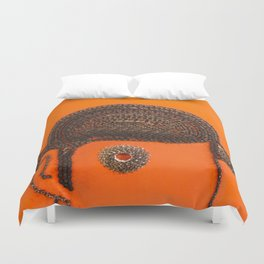 002: Clockwork Orange - 100 Hoopties Duvet Cover