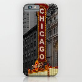 Chicago Theatre Sign Downtown State Street Historic Theater Marquee iPhone Case