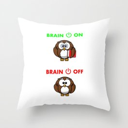 Owl funny gift Throw Pillow