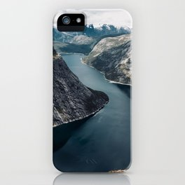 Fjord Island Lake Mountains Landscape iPhone Case