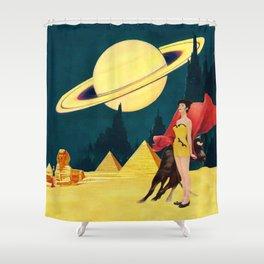 Yellow Summit Shower Curtain