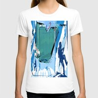 climbing T-shirts featuring Ice Climbing by Robin Curtiss